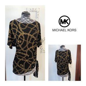 Like-New Michael Kors Chain Print Top